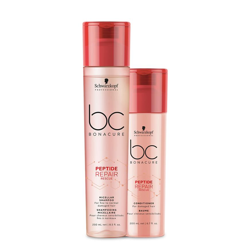 kit BC Bonacure Repair Rescue Micellar Shampoo 250ml + Condicionador 200ml