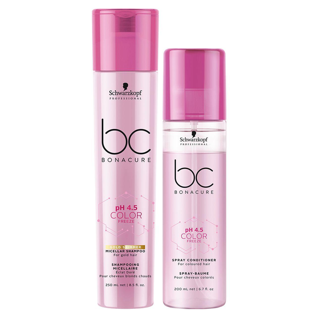 kit Color Freeze - Shampoo Gold 250 ml + Condicionador Spray 200 ml