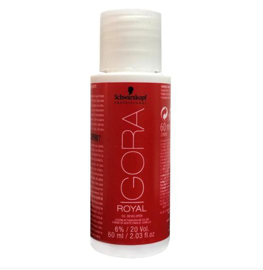 Kit Coloração Igora Royal 3 unidades 6-77 + 3 unidades Ox 20 vol 60 ml