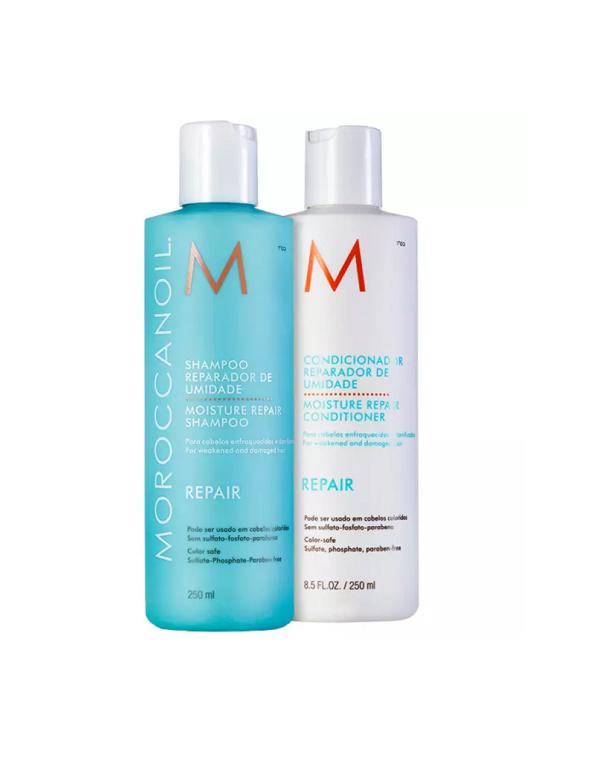 Kit Moroccanoil Shampoo Repair 250ml  + Condicionador Repair 250ml  + Máscara Repair 250ml