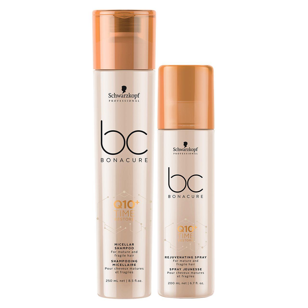 kit Time Restore - Shampoo Micellar + Condicionador Spray 200 ml