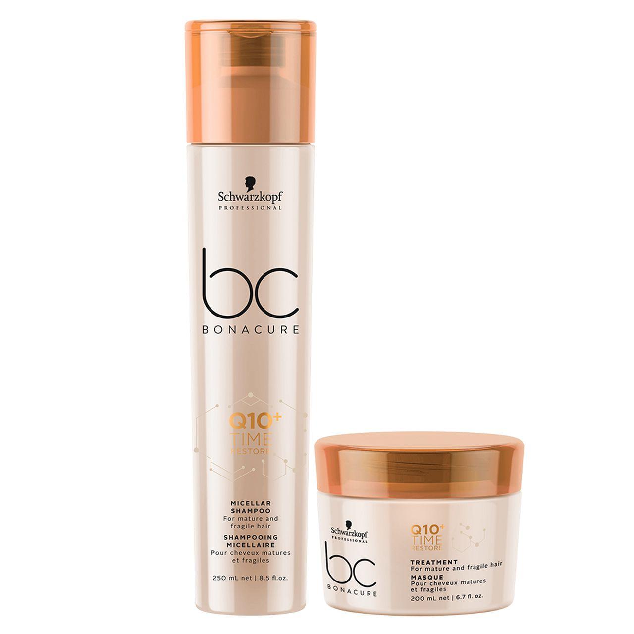 kit Time Restore - Shampoo Micellar + Máscara 200 ml