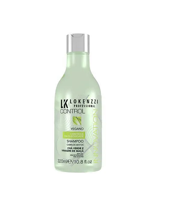 Lokenzzi Vegano Chá Verde e Vinagre de Maçã Shampoo 320ml