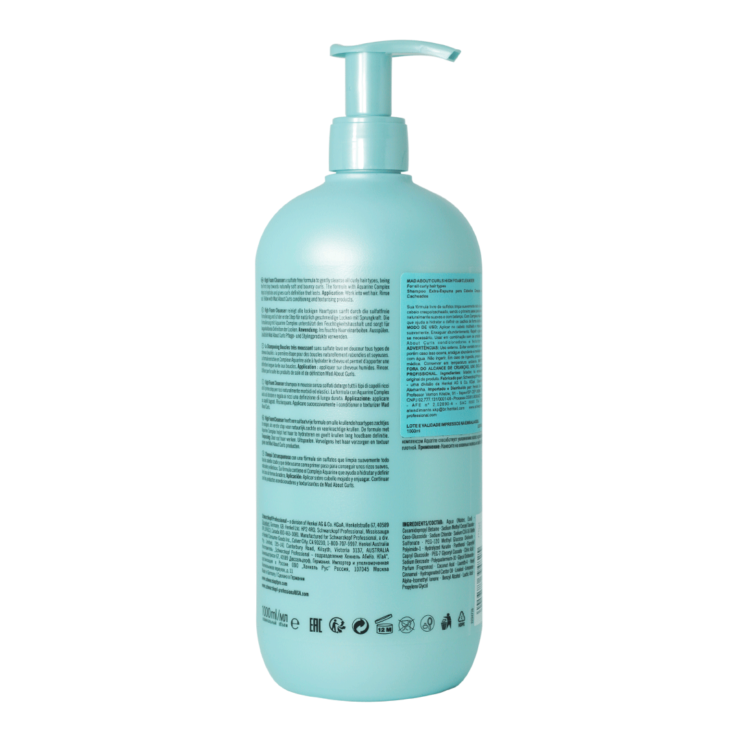 Mad About Curls Shampoo Extra Espuma 1000 ml