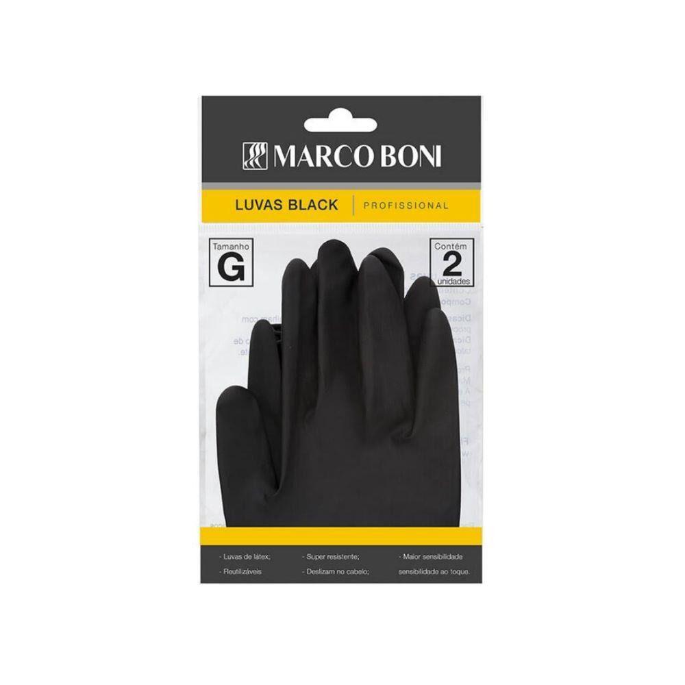 Marco Boni Luvas Black G 1497 com 2 unidades