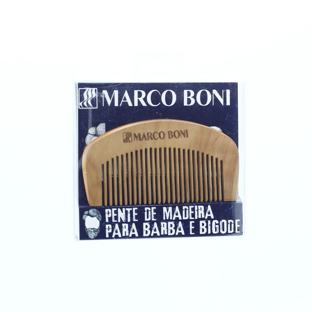 Marco Boni Pente de Madeira para Barba e Bigode
