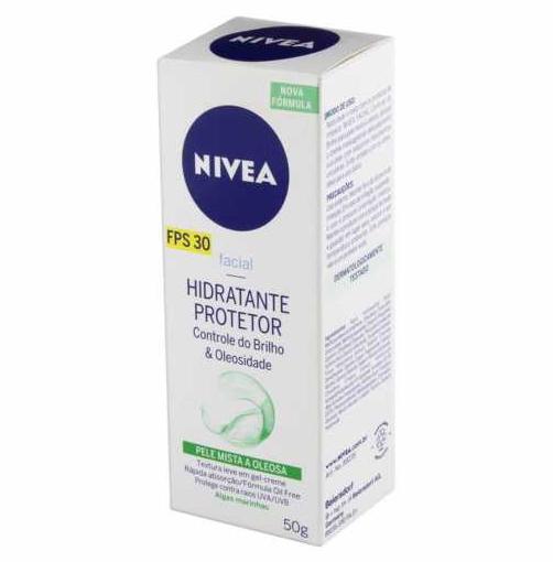 Nivea Hidratante Protetor Controle do Brilho e Oleosidade FPS30 50g