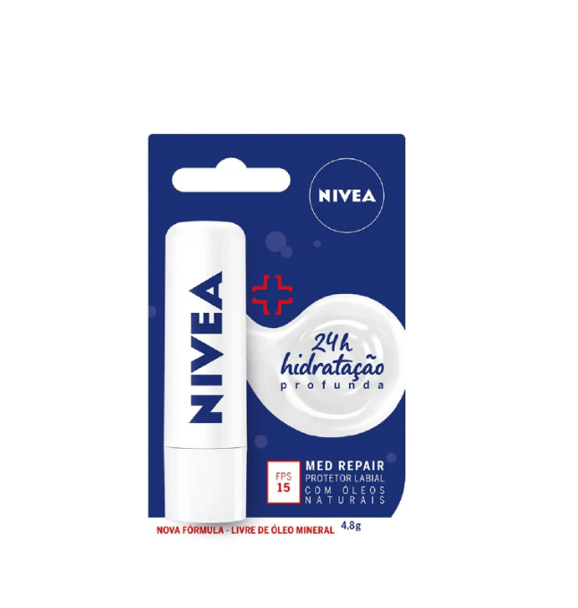 Nivea Protetor Labial Lip Care Med Protect 4,8g