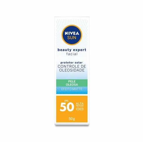 Nivea Protetor Solar Facial Sun Pelo Oleosa FPS50 50g