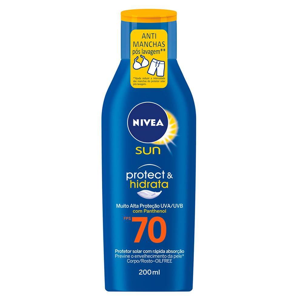 Nivea Protetor Solar Sun Protect & Hidrata FPS70 200ml