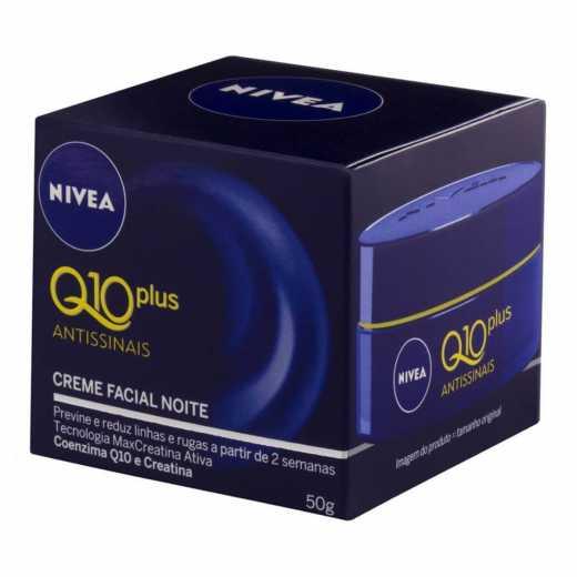 Nivea Creme Facial Antissinais Noite Q10 Plus