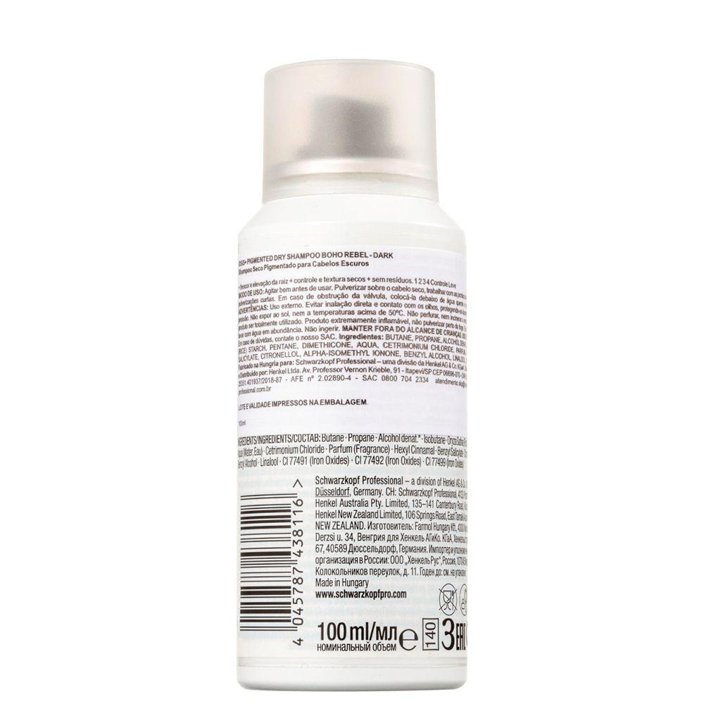 OSIS+ Boho Rebel Shampoo a Seco Castanho Escuro 100 ml