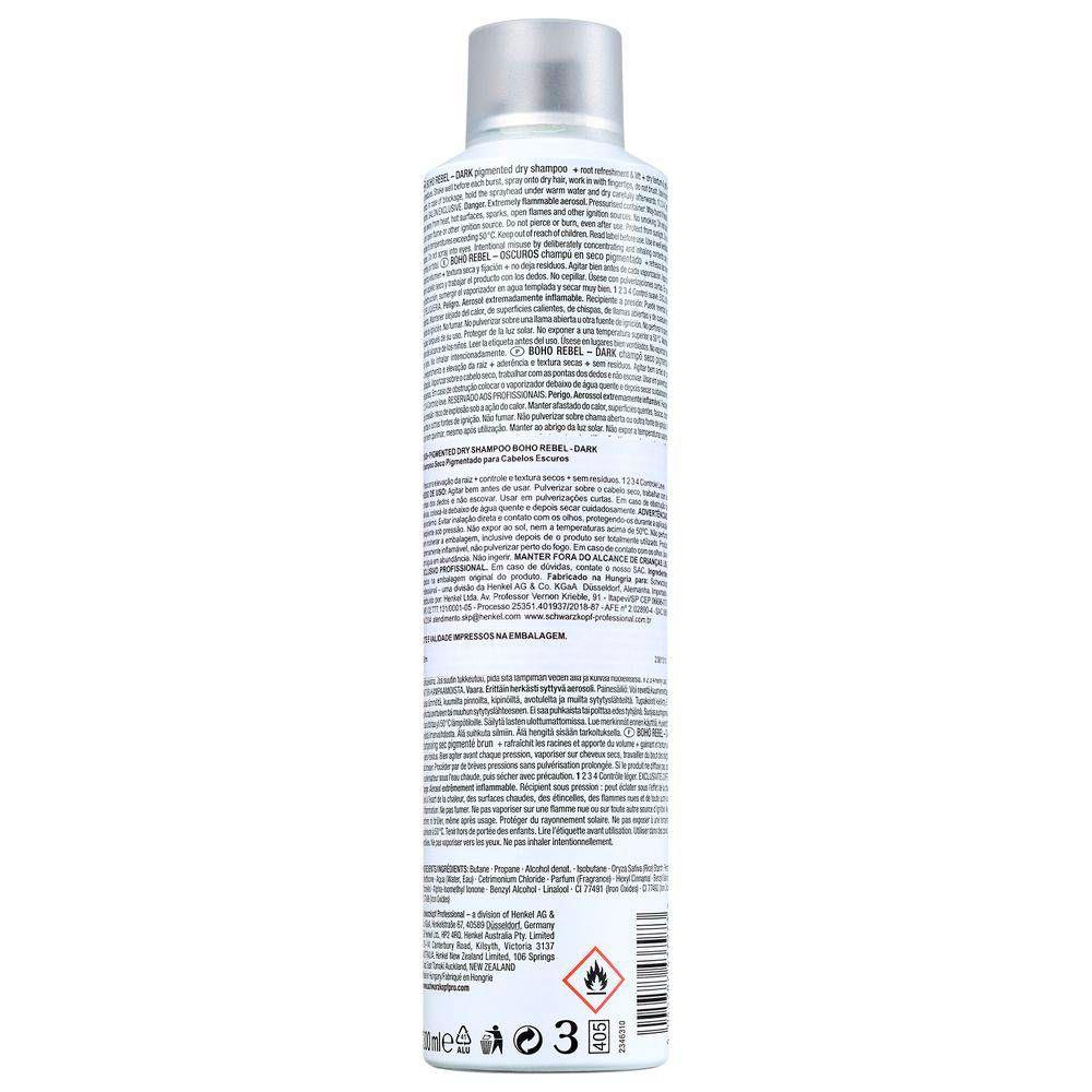 OSIS+ Boho Rebel Shampoo a Seco Castanho Escuro 300 ml