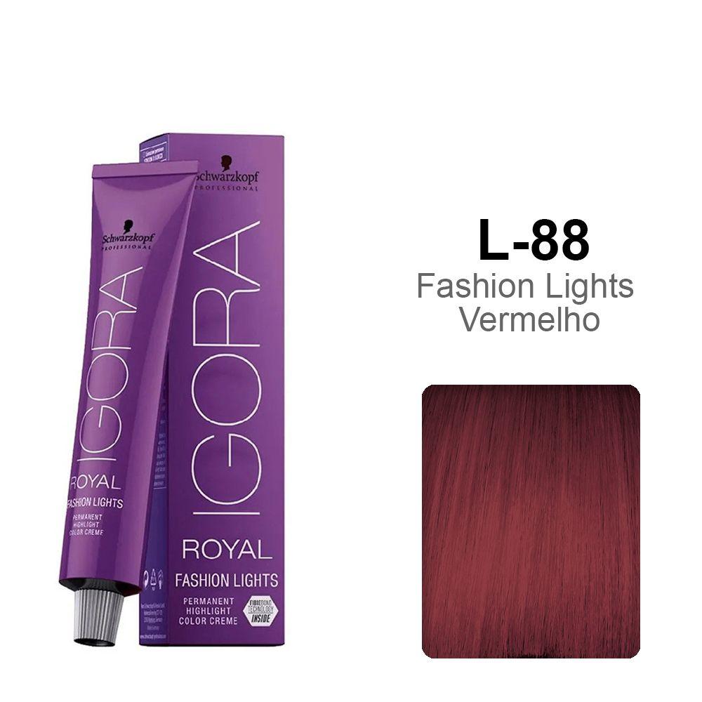 OUTLET - Igora Royal Fashion Lights L-88 - Fashion Lights Vermelho