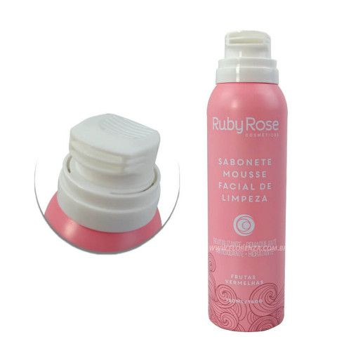 Ruby Rose Sabonete Mousse Fácil De Limpeza Frutas Vermelhas