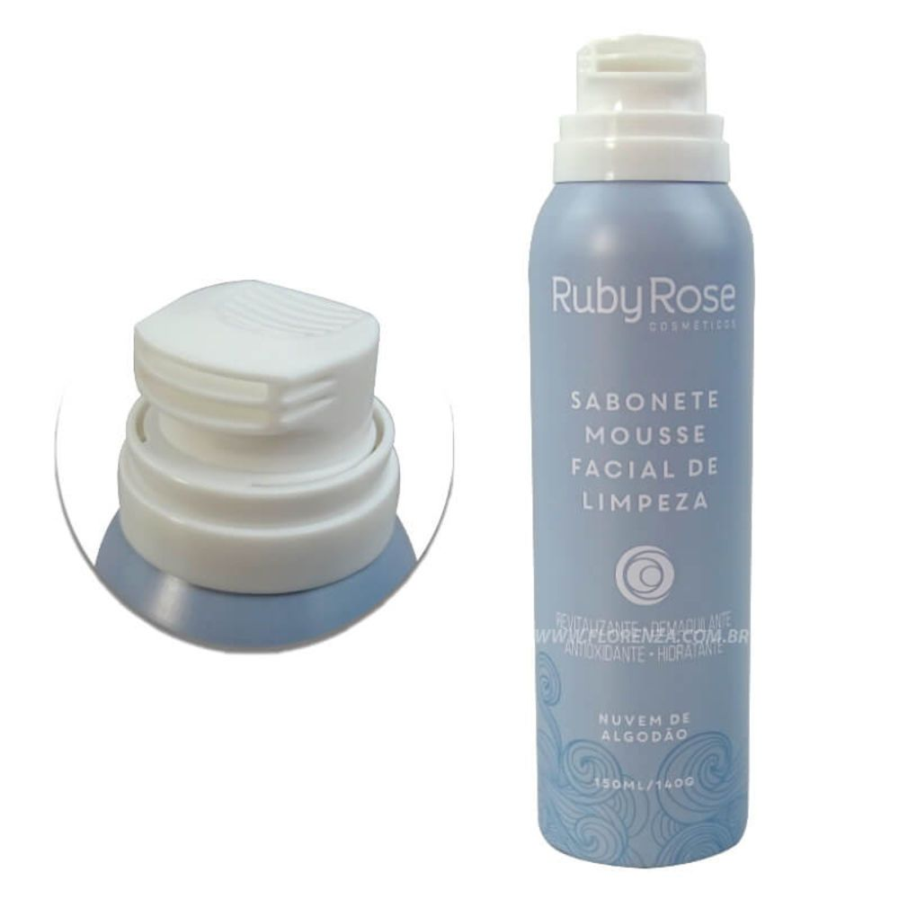 Ruby Rose Sabonete Mousse Facial De Limpeza Nuvem De Algodão