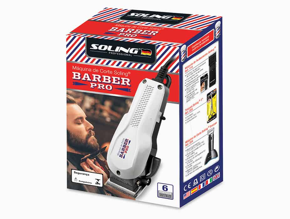 Soling Máquina de Corte Barber Pro Preto REF. 209