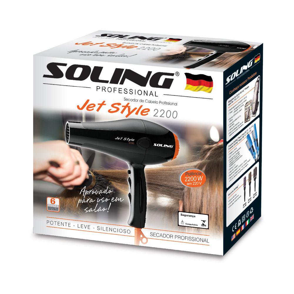 Soling Secador de Cabelo Jet Style 110V/2100W