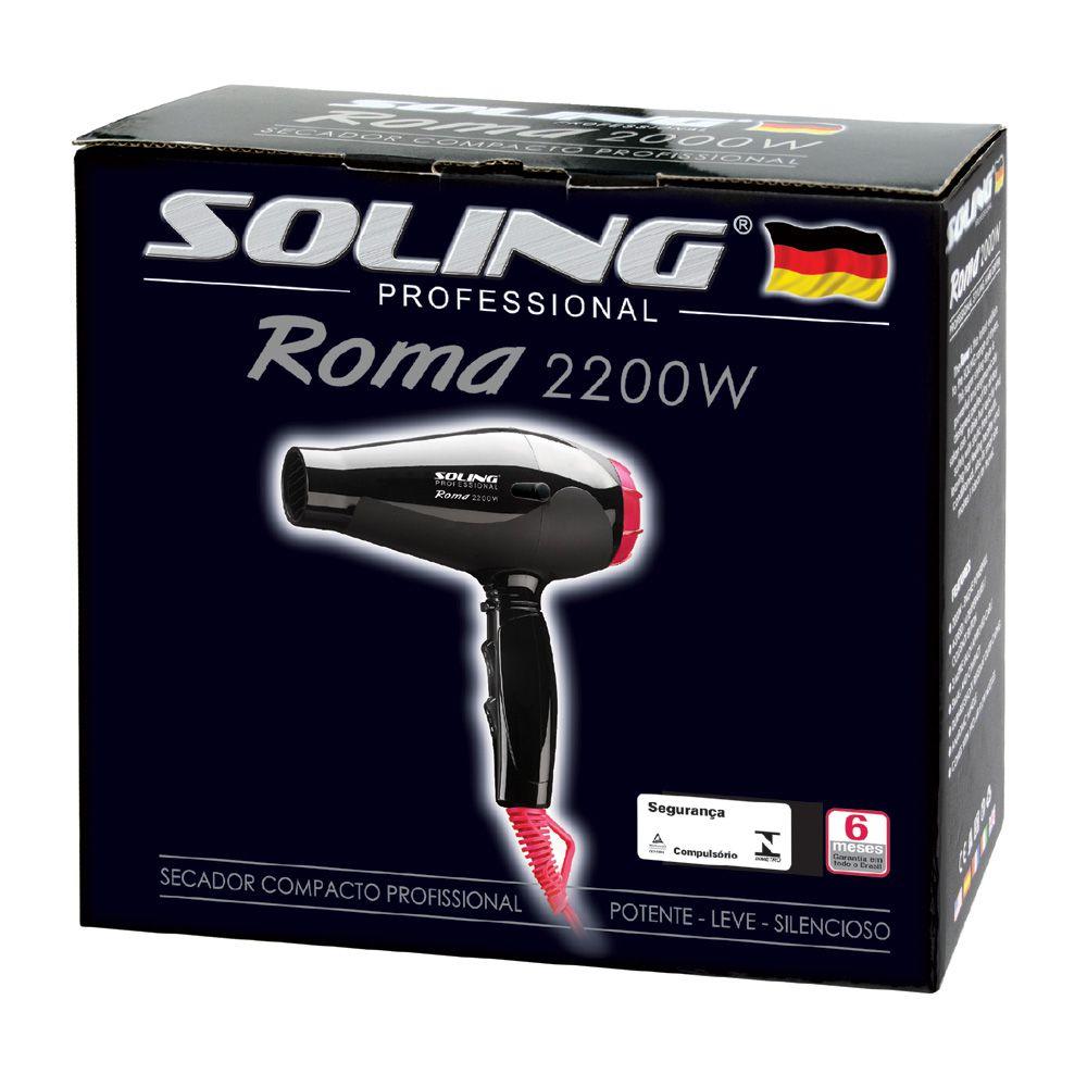 Soling Secador de Cabelo Roma 110V/2100W
