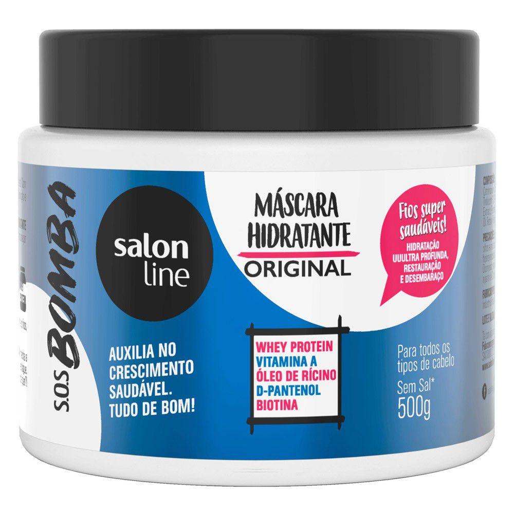 Salon Line Máscara Hidratante Original SOS Bomba Vitaminas  500 g