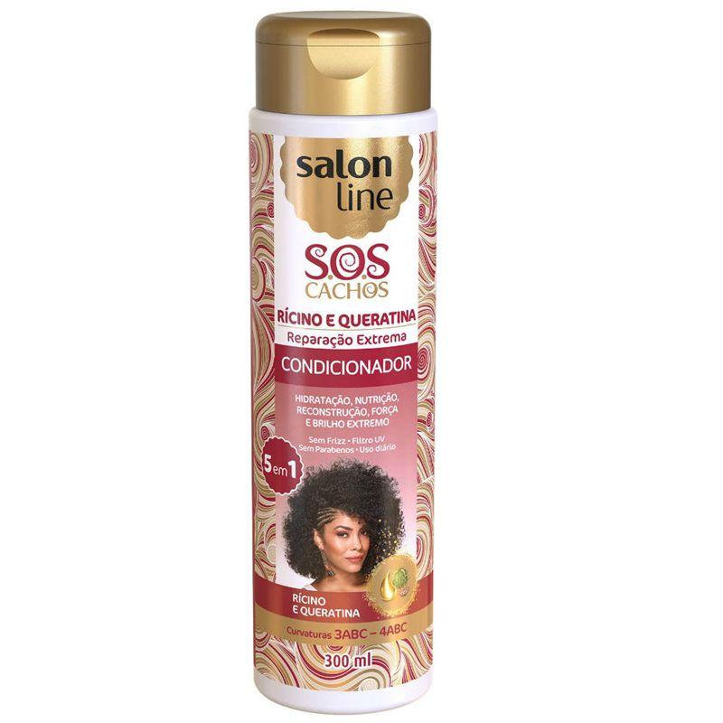 Salon Line Condicionador SOS Cachos Rícino e Queratina 300 ml