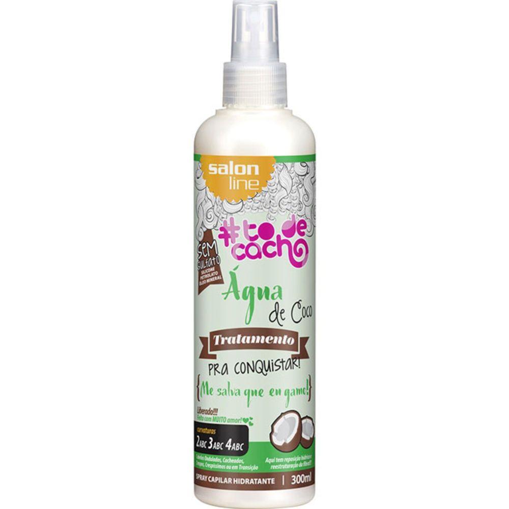 Salon Line To de Cacho Spray Capilar Água de Coco 300 ml
