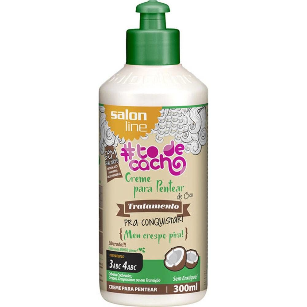 Salon Line Creme Para Pentear To De Cacho 300 ml