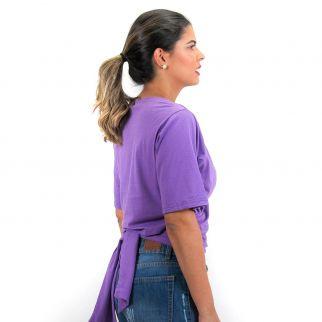 Blusa Lisa com Amarração Roxa