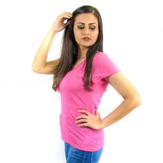 Blusa Podrinha Decote V Rosa