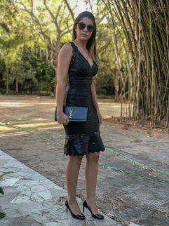 Vestido Bandagem Preto