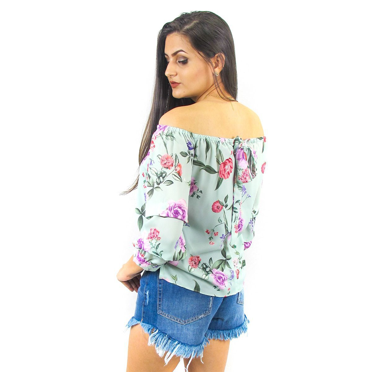Blusa Ciganinha Floral
