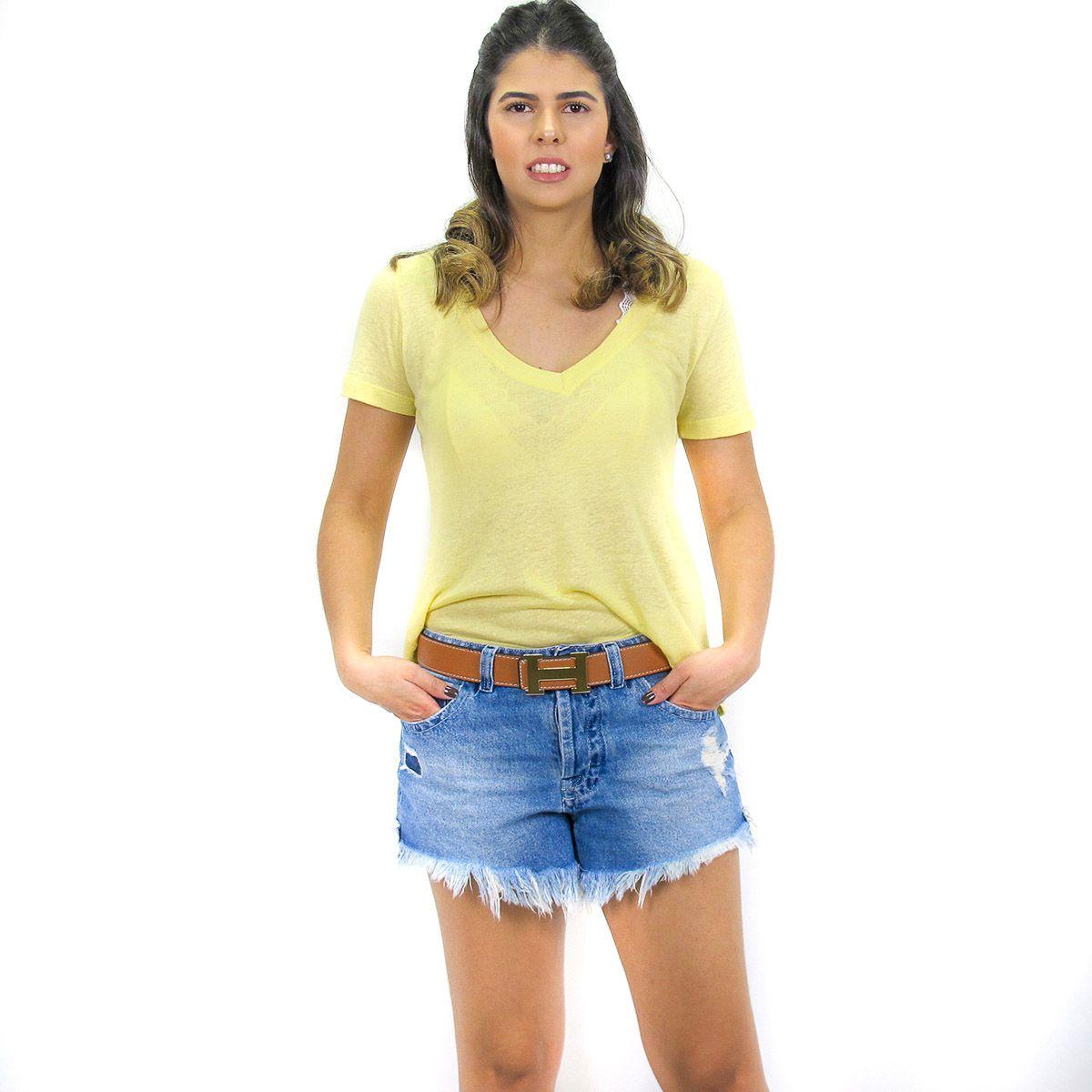 Blusa Podrinha Amarelo Claro