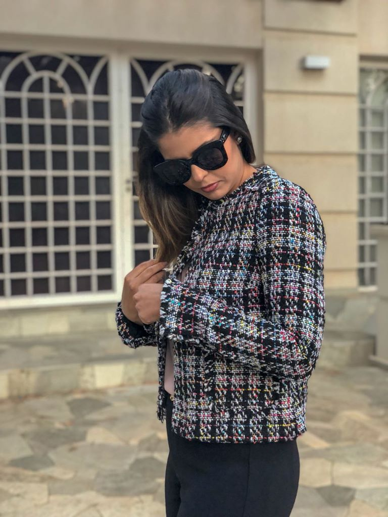 Casaco Color Tweed