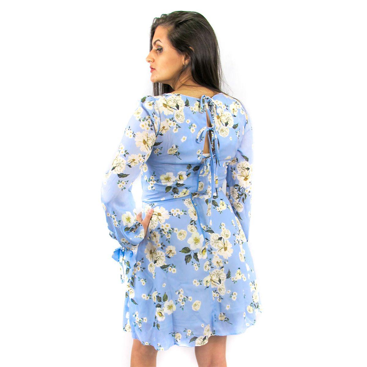 Vestido Floral Azul