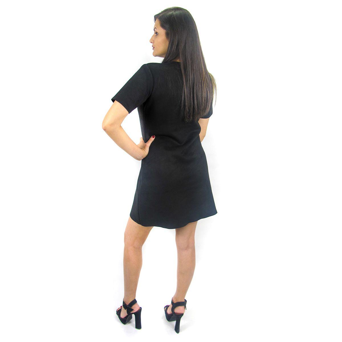 Vestido Suede Preto