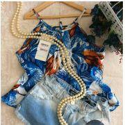Bata Camu Camu tropical azul