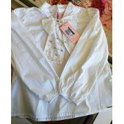 Camisa branca de laço PITUCHINHUS