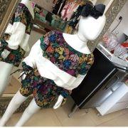 Conjunto PRECOCE blusa/short estampado