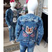 Jaqueta jeans bordada ANIMÊ