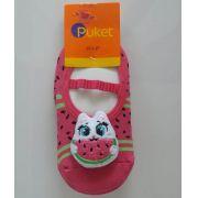 Meia sapatilha Puket melancia