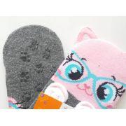 Meia sapatilha Puket rosa gatinha