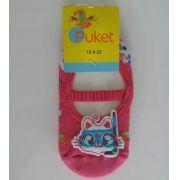 Meia sapatilha Puket rosa gatinha mergulhadora