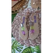 Rasteira pedras lilás/lima MAITHE