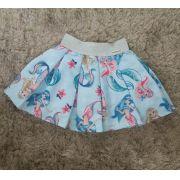 Saia Pituchinhus azul sereias