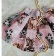 Saia rosa cachorrinhos PITUCHINHUS