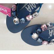 Sandália Azul com rosa INDAIÁ