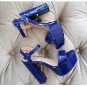 Sandália azul verniz PARÔ