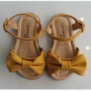 Sandália Contramão amarela laço
