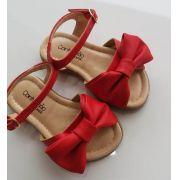 Sandália Contramão vermelha laço