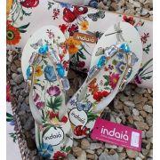Sandália floral INDAIÁ